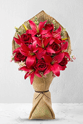 Admirer - Premium Rose & Lily Bouquet